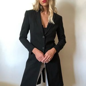 {Vintage} long pinstriped blazer jacket